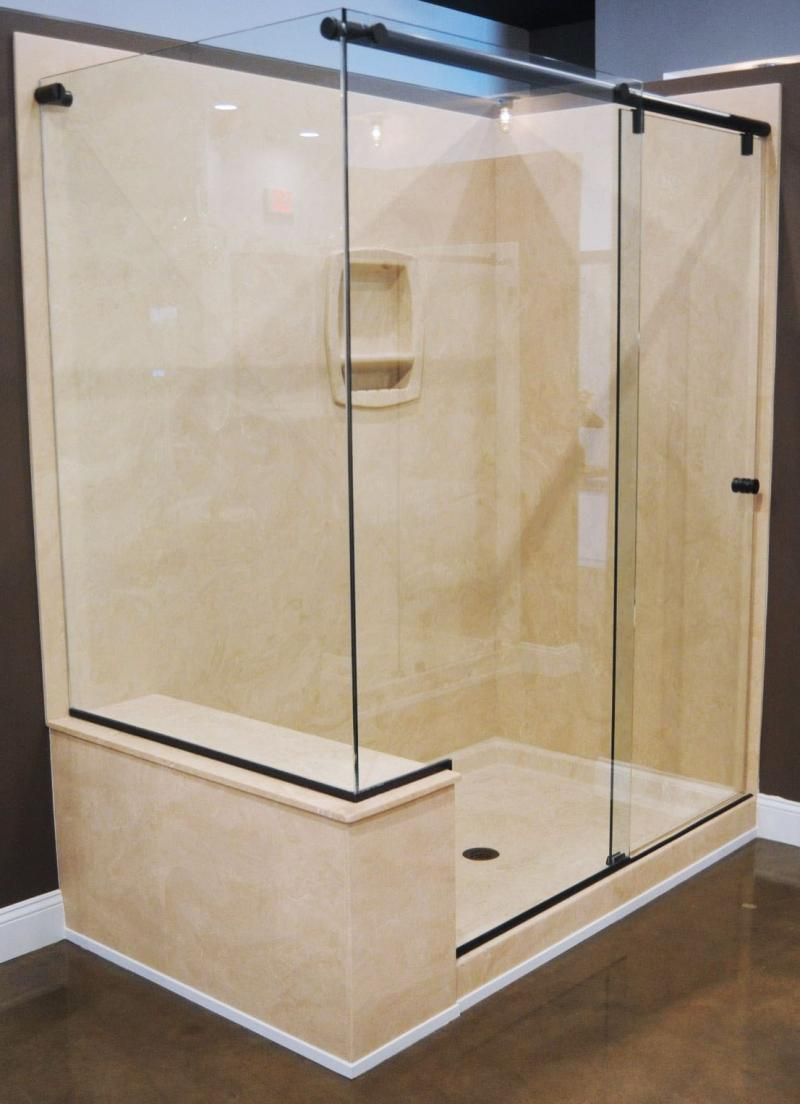 American Bluegrass Marble Products And Services - Composite marble shower walls